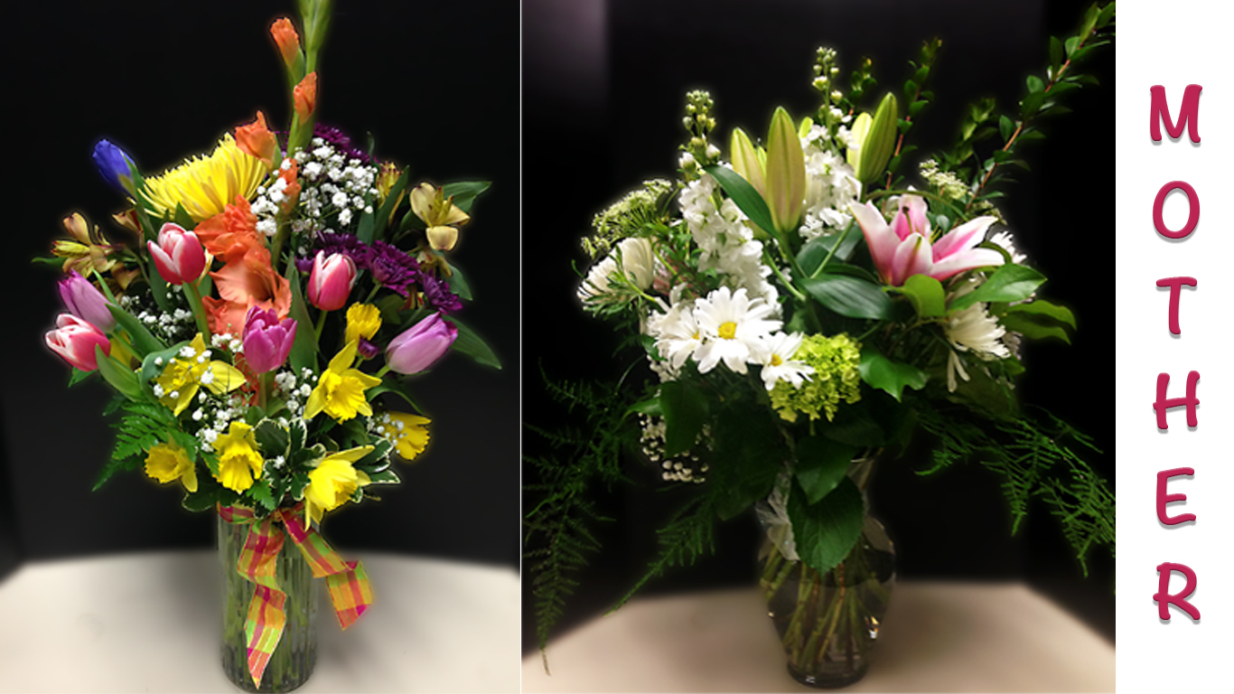 Fresh floral arrangements for Mother's Day