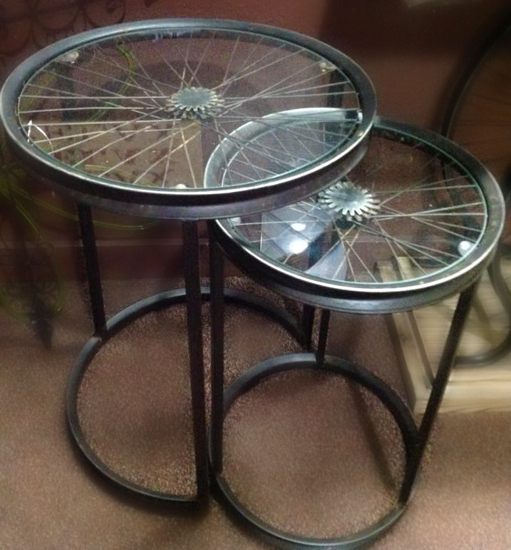 Bicycle wheel end-tables