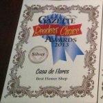 2013 Readers' Choice Award for Best Flower Shop