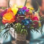 Bridal Bouquet with Blue Dandrubium Orchids