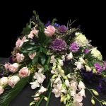 Pink Roses and Orchid Casket Spray