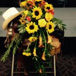 Saddle and Cowboy Hat Funeral Spray