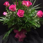 Valentine's Day Pink Roses with diamonds